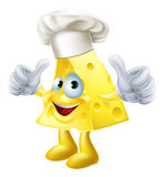 Cheese chef cartoon Stock Images