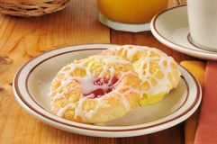 Cheese and cherry danish Stock Photos
