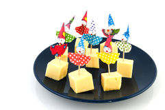Cheese for childparty Stock Photography