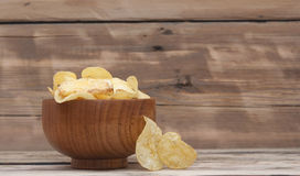 Cheese and chive potato crisp snack Stock Photography