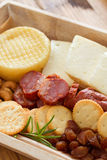 Cheese with chorizo Stock Photos