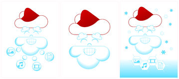 Cheese Christmas Tree With Two Mice Royalty Free Stock Images