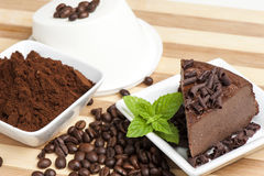 Cheese with coffee and chocolate chips Stock Photography