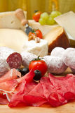 Cheese and cold cuts Royalty Free Stock Photos