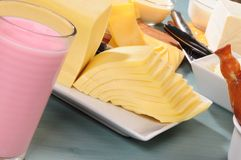Cheese collection. Series,see more... Variety of cheese from goat and cow milk Royalty Free Stock Photo