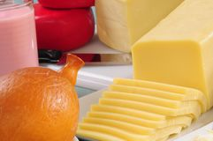 Cheese collection. Series,see more... Variety of cheese from goat and cow milk Royalty Free Stock Images