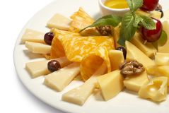 Cheese composition Royalty Free Stock Photo