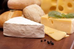 Cheese composition Royalty Free Stock Images