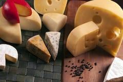 Cheese composition Stock Photos