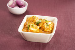 Cheese Cooked in a Creamy Sauce Royalty Free Stock Photography