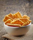 Cheese cookies Stock Photos