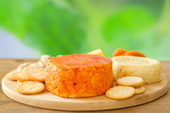 Cheese with cookies Stock Photo