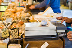 Cheese counter Royalty Free Stock Images