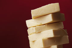 Cheese from cow`s milk yellow Royalty Free Stock Photo