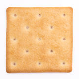 Cheese cracker. Isolated on white background Royalty Free Stock Photo