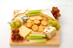 Cheese and Crackers Royalty Free Stock Images