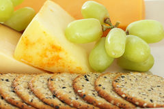 Cheese and crackers Royalty Free Stock Photos