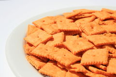 Cheese Crackers Royalty Free Stock Images