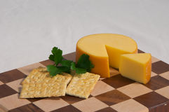 Cheese and Crackers Stock Photos