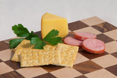 Cheese and Crackers Royalty Free Stock Photo