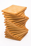 Cheese crackers. Isolated on white background Stock Photo