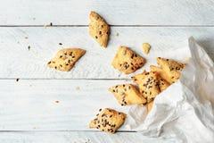 Cheese crackers Stock Image