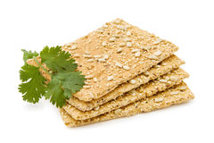 Cheese crackers with sunflower seeds Stock Images