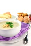 Cheese Cream Soup Stock Photo