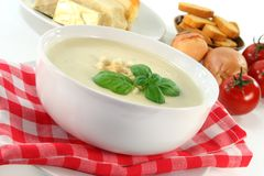 Cheese Cream Soup Royalty Free Stock Photo