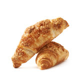 Cheese croissant pastry isolated Stock Photos
