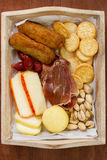 Cheese with croquettes Stock Images