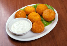 Cheese Croquettes Plate Royalty Free Stock Photo