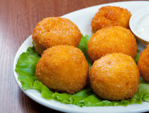 Cheese Croquettes Plate Stock Photo