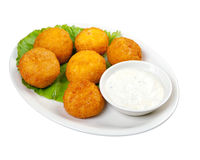 Cheese Croquettes Plate Royalty Free Stock Images
