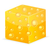 Cheese cube Stock Images