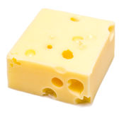 Cheese cube Royalty Free Stock Images