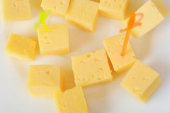 Cheese cubes Royalty Free Stock Photos