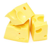 Cheese cubes Stock Image