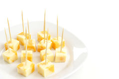 Cheese Cubes Royalty Free Stock Photography