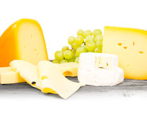 Cheese cubes Stock Images