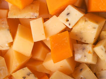 Cheese cubes Stock Photography