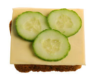 Cheese and cucumber sandwich Royalty Free Stock Photo
