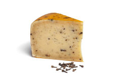 Cheese with cumin and cloves Royalty Free Stock Photos