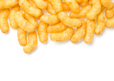 Cheese curl snack Royalty Free Stock Images