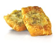 Cheese cutlets. On white background Stock Photography