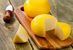 Cheese   on a cutting board Stock Photography