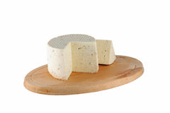 Cheese on cutting board Royalty Free Stock Photo