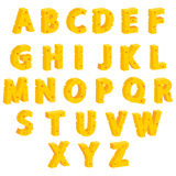 Cheese  decorative letters. Vector illustration Stock Photos