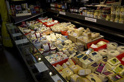 Cheese and deli products Royalty Free Stock Photos