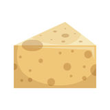 Cheese delicious portion isolated icon. Vector illustration design Royalty Free Stock Image